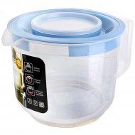 Емкость для миксера мерная, с крышкой, туманно-голубой, 2 л.