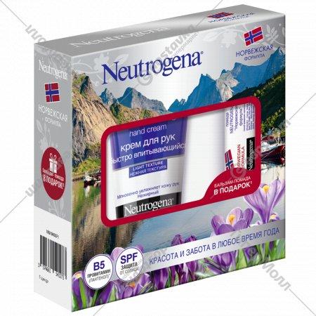 Набор «Neutrogena» крем для рук 75 мл, бальзам-помада 4.8 г.