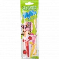 Трубочки для молока «Муми» утренний микс 5 шт, 30г.