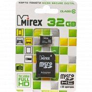 Карта памяти «Mirex» microSDHC (class 10) 32GB + адаптер (13613-AD10SD32).