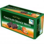 Шоколад с мятной начинкой, с апельсиновым вкусом, в пластинках, 200 г.
