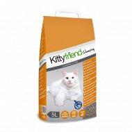 Наполнитель для туалета комкующийся «Kitty Friend» clumping, 5 л.