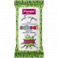 Салфетки влажные «Premial» очищающие, для школьников, 15 шт.