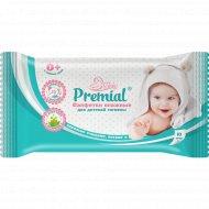 Салфетки влажные для детской гигиены «Premial» с алоэ-вера, 10 шт.