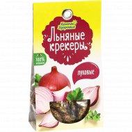 Льняные крекеры «Компас Здоровья» луковые, 50 г.