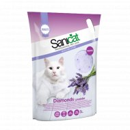 Наполнитель для туалета «Sanicat Diamonds Lavanda» силикагелевый, 5 л.