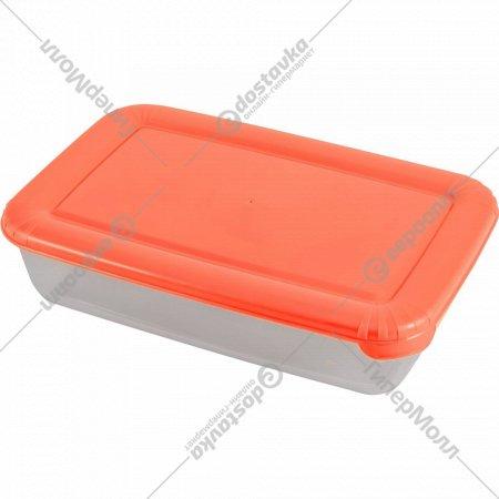 Емкость для продуктов «Polar» прямоугольная, коралловая, 3 л.