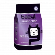Наполнитель для туалета комкующийся «Bazyl» lavender, 10 л.