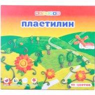 Набор пластилина детского «Цветик» со стеком, 10 цветов, 200 г.