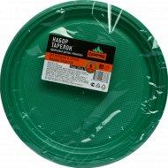 Набор цветных тарелок «Романтика» одноразовых, 205 мм, 6 шт.
