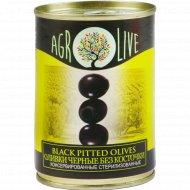 Оливки черные «Agrolive» без косточки, 280 г.