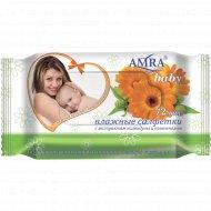 Салфетки влажные детские «Амра» с экстрактом календулы, 72 шт.