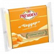 Сыр плавленый ломтевой «President» Чеддер 40%, 150 г.
