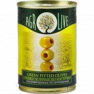 Оливки зеленые «Agrolive» без косточки, 90 г.