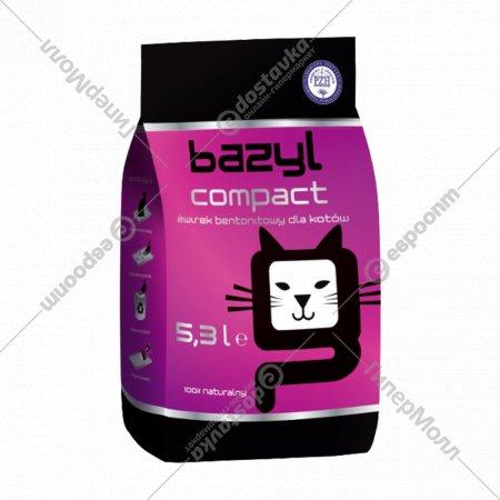 Наполнитель для туалета комкующийся «Bazyl» compact, 5.3 л.