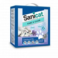 Наполнитель для туалета «Sanicat» sani clean, 6 л.