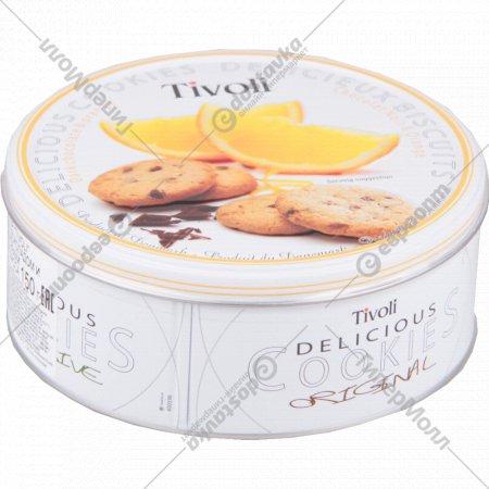 Печенье «Tivoli» с тёмным шоколадом и апельсиновыми цукатами, 150 г.