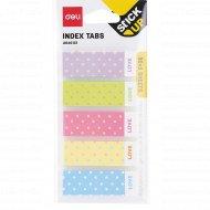 Закладки бумажные «Deli» 45х15 мм, 5 цветов, 30 листов.