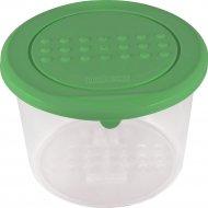 Емкость для хранения продуктов «Pattern» круглая, зеленая, 0.8 л.