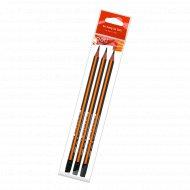 Набор карандашей «Deli» с ластиком, 3 шт