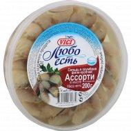 Сельдь и скумбрия «Любо есть» филе-кусочки в масле, 200 г.
