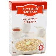 Хлопья мелкие «Русский завтрак» 4 злака, 400 г.