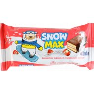 Бисквитное пирожное «Витьба» Snow max с клубничной начинкой, 40 г.