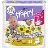 Подгузники для детей «Bella Baby Happy» maxi plus, 4+, 9-20 кг, 25 шт.