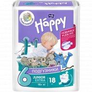 Подгузники для детей «Bella Baby Happy» junior extra 16+ кг, 18 шт.