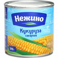 Кукуруза сахарная «Нежино» в зернах, 340 г.