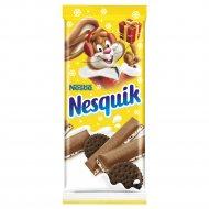 Молочный шоколад «Nesquik» с молочной начинкой и какао-печеньем, 95 г.