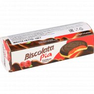 Бисквит «Biscolata Pia» с малиновым желе, покрытый шоколадом, 100 г.