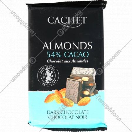 Шоколад темный «Kim'S» с миндалем 53%, 300 г.
