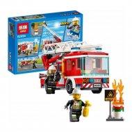 Конструктор «Lepin» 02054, Пожарная машина с лестницей.