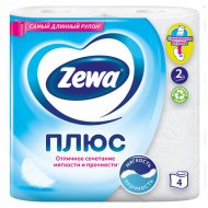 Бумага туалетная «Zewa» Plus, двухслойная, 4 рулона