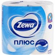 Бумага туалетная «Zewa» Plus, двухслойная, 4 рулона.