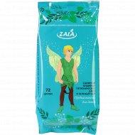 Влажные салфетки «Zala» алоэ и зелёный чай, 72 шт.