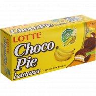 Печенье «Choco Pie» lotte с ароматом банана, 168 г.