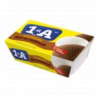 Мороженое двухслойное «1-й А» с ароматом ванилина, 400 г.