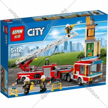 Конструктор «Lepin» 02086, Пожарная машина.