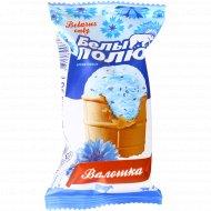 Мороженое пломбир «Белый полюс» васильковое, 90 г.