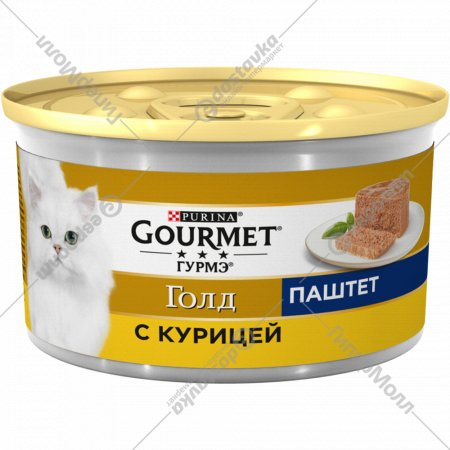 Паштет для взрослых кошек «Gourmet Gold» с курицей, 85 г.