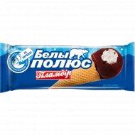 Мороженое пломбир «Белый полюс» в сахарном рожке, 70 г.