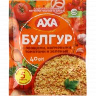 Каша «Аха» булгур с овощами, копчеными томатами и зеленью, 40 г.