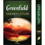 Чай черный «Greenfield» Golden Ceylon, 100 г.