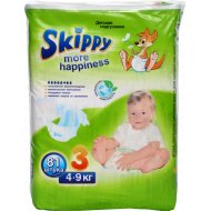 Подгузники «Skippy» more happiness 4-9 кг, 81 шт.