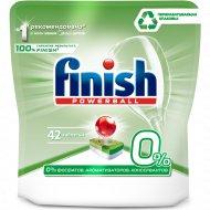 Средство для мытья посуды «Finish» 0% бесфосфатное, 42 таблетки.