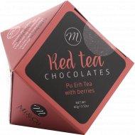 Драже в темном шоколаде «Mi&Cu» с тертым миндалем и чаем Пу Эр, 60 г.