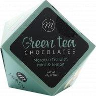Драже в белом шоколаде «Mi&Cu» с лесным орехом и Марокканским зеленым чаем, 60 г.