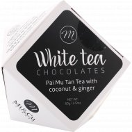 Драже в белом шоколаде «Mi&Cu» с карамелизированным миндалем и белым чаем Пай Му Тан, 60 г.